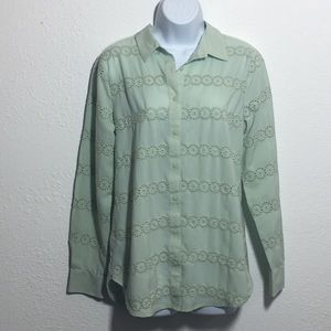 Ann Taylor Sea Foam Green Blouse